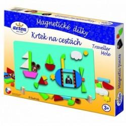 DETOA Drevené magnetické puzzle Krtko na cestách