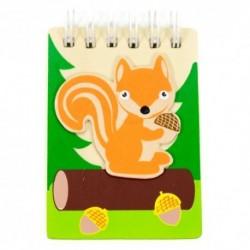 Drevený poznámkový blok malý - veverička