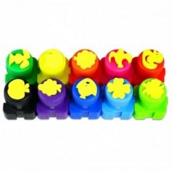 Colorino Kids prstové farby - 10 farieb s pečiatkami
