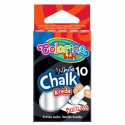 Colorino Kids biele kriedy na tabuľu - 10 kusov