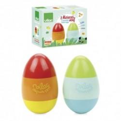 Drevené hrkajúce vajíčka - pár