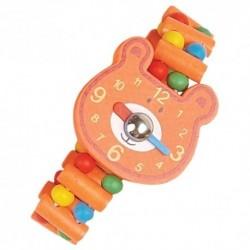 Detské drevené hodinky - macko