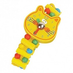 Detské drevené hodinky - mačička