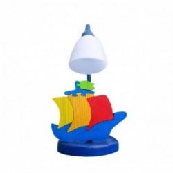 Detská stolná lampa - loďka modrá