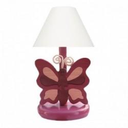 Detská nočná lampa - motýľ fialový