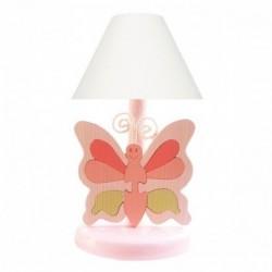 Detská nočná lampa - motýľ ružový