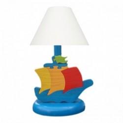 Detská nočná lampa - loďka modrá