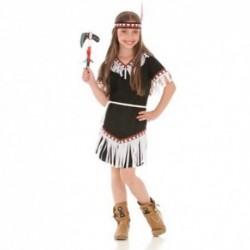 Detský karnevalový kostým - Indiánka čierno-biela veľ.116cm