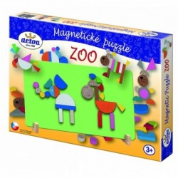 DETOA Drevené magnetické puzzle ZOO
