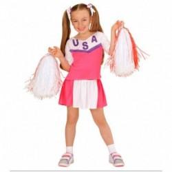 Detský karnevalový kostým - Pom-pom girl Pink
