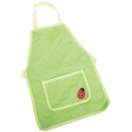 Detská pracovná zástera - zelená s lienkou