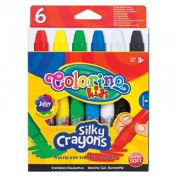 Colorino Kids Twist-Up farebné mäkké voskovky 6 ks