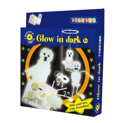 PLAYBOX Zažehľovacie korálky - set 2000 ks - Duchovia (svietiace v tme)