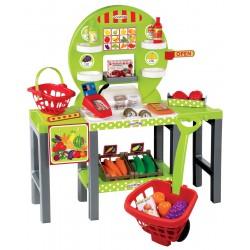 ÉCOIFFIER detský obchodík 4v1 s košíkom a 34 doplnkami