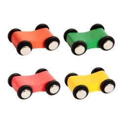 4 kusy náhradné autíčka k autodráhe s klesajúcim sklonom