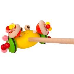 Detská hračka na tlačenie - Krab