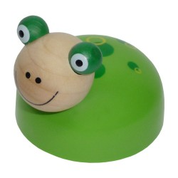 Drevená hračka na zotrvačník - Žabka