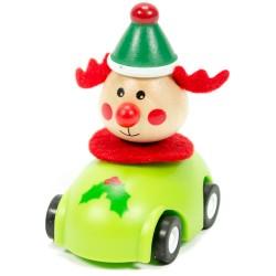 Drevené autíčko na zotrvačník - Jelenček