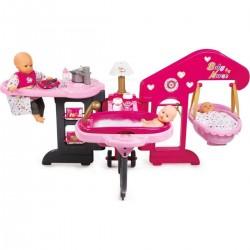 SMOBY Baby Nurse centrum pre bábiky 3v1 Zlatá edícia