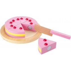 Drevená tortička na krájanie
