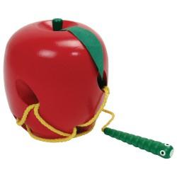 Prevliekanie šnúrky - jablko