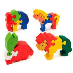 Puzzo 3D puzzle - sada štyroch zvieratiek