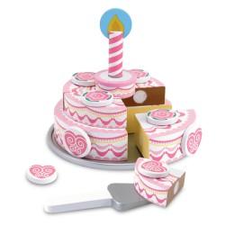 Melissa & Doug Drevená poschodová torta na krájanie