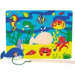 Magnetické puzzle - morský koník a jeho kamaráti
