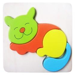 Drevené puzzle - hrubé dieliky - Mačička