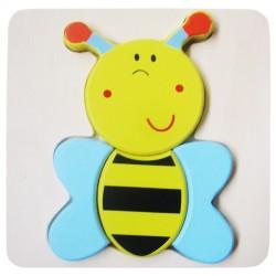 Drevené puzzle - hrubé dieliky - Včielka