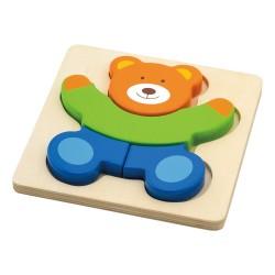 Drevené puzzle s hrubými dielikmi - Macko