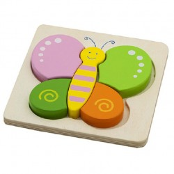 Drevené puzzle s hrubými dielikmi - Motýlik