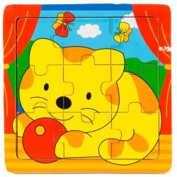 Drevené puzzle pre najmenších - Mačička