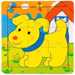 Drevené puzzle pre najmenších - Psík