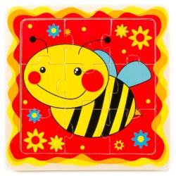 Drevené puzzle pre najmenších - Včielka