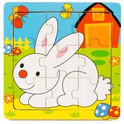 Drevené puzzle pre najmenších - Zajačik