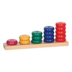 Drevená skladačka - Farebné krúžky