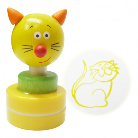 Detská drevená pečiatka - Mačička