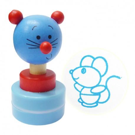 Detská drevená pečiatka - Myška