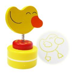 Detská pečiatka s drevenou ozdobou - Kačka