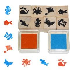 Detské pečiatky - 10-dielna sada - morský svet