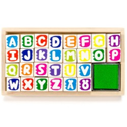 Detské pečiatky - sada v krabičke - abeceda