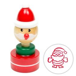 Detská drevená pečiatka vianočná - Mikuláš