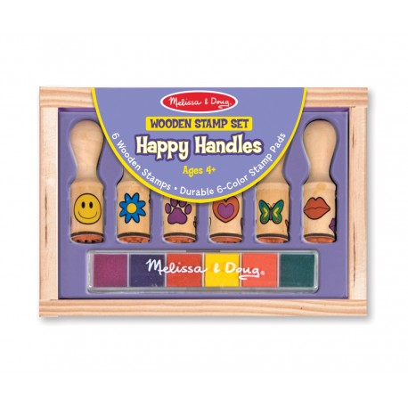 Melissa & Doug Detské pečiatky s úchytkami - Happy Handles