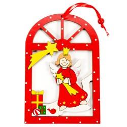 Drevená závesná deklorácia do okna - Anjelik