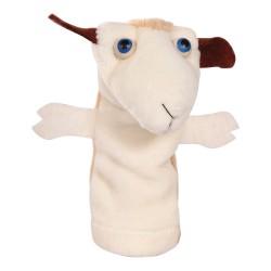 Prstová plyšová maňuška - Ovečka biela