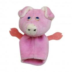 Prstová plyšová maňuška - Prasiatko ružové