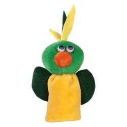 Prstová plyšová maňuška - Papagáj žlto-zelený