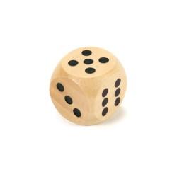 Drevená hracia kocka - 1,5 cm - natur