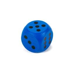 Drevená hracia kocka - 1,5 cm - modrá